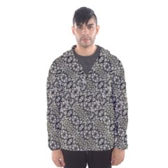 Silver Oriental Ornate Hooded Wind Breaker (men) by dflcprintsclothing