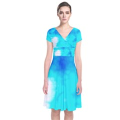 Turquoise Sky  Wrap Dress by TRENDYcouture