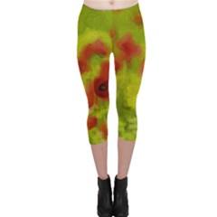 Poppy Iii Capri Leggings  by colorfulartwork