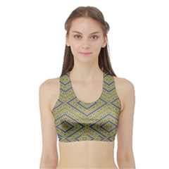 No Vaccine Women s Sports Bra With Border by MRTACPANS