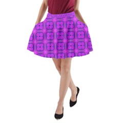Abstract Dancing Diamonds Purple Violet A Line Pocket Skirt by DianeClancy