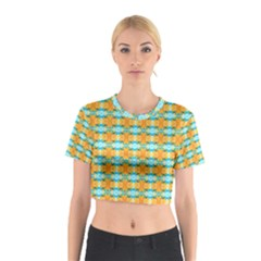 Dragonflies Summer Pattern Cotton Crop Top by Costasonlineshop
