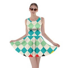 Rhombus Pattern                                                              Skater Dress by LalyLauraFLM