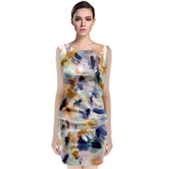 Lee Abstract Classic Sleeveless Midi Dress by LisaGuenDesign