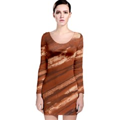 Red Earth Natural Long Sleeve Velvet Bodycon Dress by UniqueCre8ion