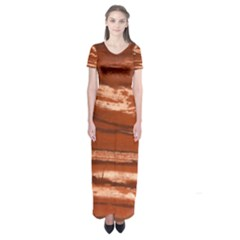 Red Earth Natural Short Sleeve Maxi Dress by UniqueCre8ion