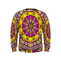 Celebrating Summer In Soul And Mind Mandala Style Kids  Sweatshirt by pepitasart