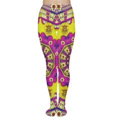 Celebrating Summer In Soul And Mind Mandala Style Women s Tights by pepitasart