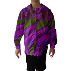 Swish Purple Green Hooded Wind Breaker (kids) by BrightVibesDesign