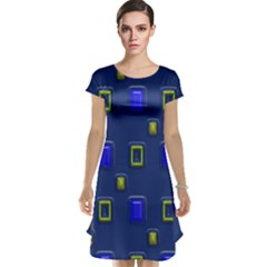 3d Rectangles                                                                      Cap Sleeve Nightdress by LalyLauraFLM