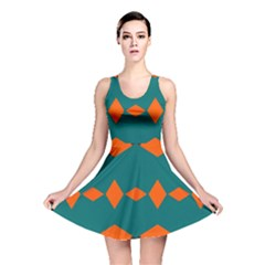 Rhombus And Other Shapes                                                                      Reversible Skater Dress by LalyLauraFLM