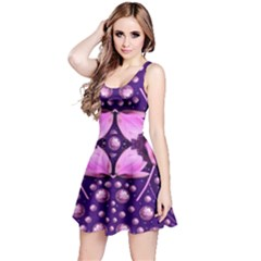 Magic Lotus In A Landscape Temple Of Love And Sun Reversible Sleeveless Dress by pepitasart