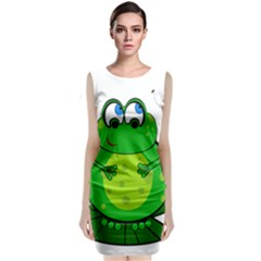 Green Frog Classic Sleeveless Midi Dress by Valentinaart