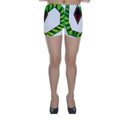 Decorative Snake Skinny Shorts by Valentinaart