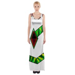 Decorative Snake Maxi Thigh Split Dress by Valentinaart