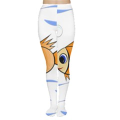 Cute Fish Women s Tights by Valentinaart