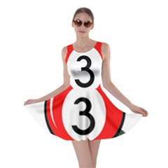 Billiard Ball Number 3 Skater Dress by Valentinaart
