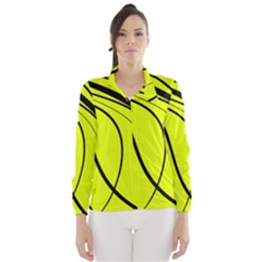 Yellow Decorative Design Wind Breaker (women) by Valentinaart