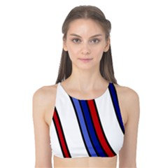 Decorative Lines Tank Bikini Top by Valentinaart