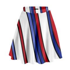 Decorative Lines High Waist Skirt by Valentinaart