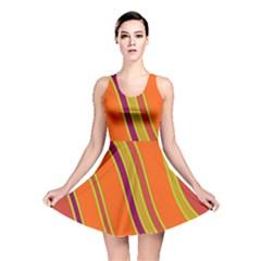Orange Lines Reversible Skater Dress by Valentinaart