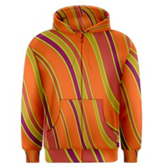 Orange Lines Men s Zipper Hoodie by Valentinaart