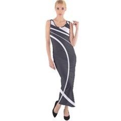 Black And White Elegant Design Fitted Maxi Dress by Valentinaart