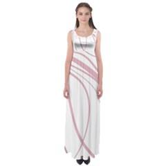 Pink Elegant Lines Empire Waist Maxi Dress by Valentinaart