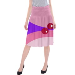 Decorative Abstraction Midi Beach Skirt by Valentinaart