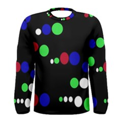 Colorful Dots Men s Long Sleeve Tee by Valentinaart