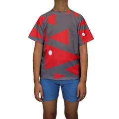 Decorative Abstraction Kid s Short Sleeve Swimwear by Valentinaart