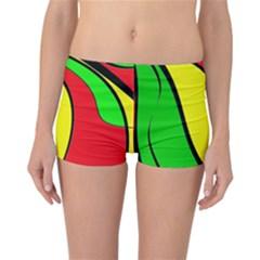 Colors Of Jamaica Reversible Boyleg Bikini Bottoms by Valentinaart