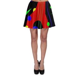 Abstract Guitar  Skater Skirt by Valentinaart