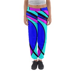 Purple And Blue Women s Jogger Sweatpants by Valentinaart