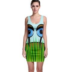 Snail Sleeveless Bodycon Dress by Valentinaart