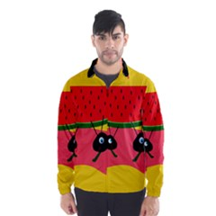 Ants And Watermelon  Wind Breaker (men) by Valentinaart