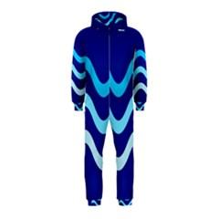 Blue Waves  Hooded Jumpsuit (kids) by Valentinaart