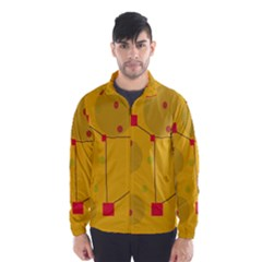 Yellow Abstract Sky Wind Breaker (men) by Valentinaart
