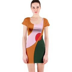 Decorative Abstraction  Short Sleeve Bodycon Dress by Valentinaart