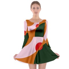 Decorative Abstraction  Long Sleeve Skater Dress by Valentinaart