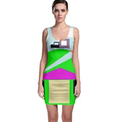 Abstract Landscape  Sleeveless Bodycon Dress by Valentinaart