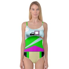 Abstract Landscape  Camisole Leotard  by Valentinaart