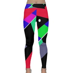 Abstract Fish Yoga Leggings by Valentinaart