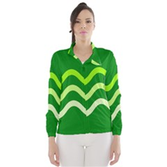 Green Waves Wind Breaker (women)