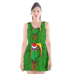 Toucan Scoop Neck Skater Dress by Valentinaart