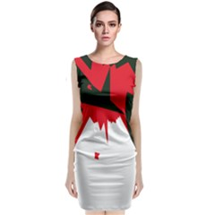 Volcano  Classic Sleeveless Midi Dress by Valentinaart