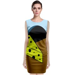 Cheese  Classic Sleeveless Midi Dress by Valentinaart