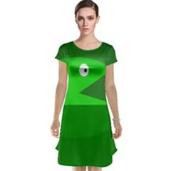 Green Monster Fish Cap Sleeve Nightdress by Valentinaart