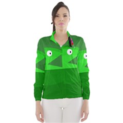 Green Monster Fish Wind Breaker (women) by Valentinaart