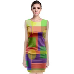 Colorful Geometrical Design Classic Sleeveless Midi Dress by Valentinaart